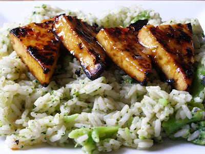 sticky lime and chilli tofu