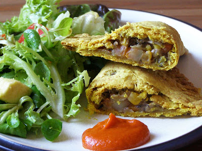 ... spice: Bryant Terry's Jamaican Veggie Patties with Hot Pepper Sauce
