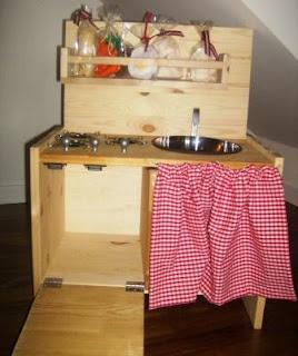 Cucina giocattolo legno hand made