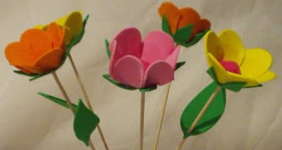 Manualidades Flores Artificiales De Goma Eva - Manualidades-con-flores-artificiales