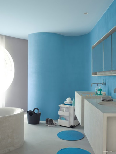 Blue Paint Ideas Mesmerizing With Blue Wall Paint Design Picture