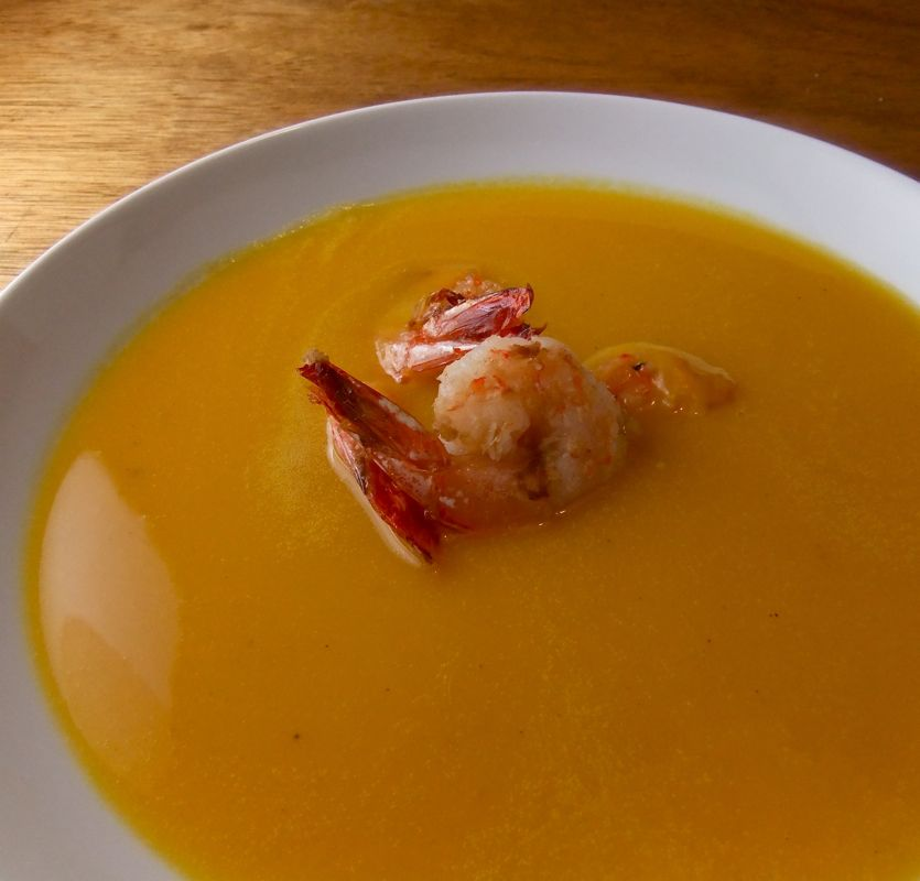 DRINK.THINK.: Butternut Squash Soup with star anise and ginger shrimp ...