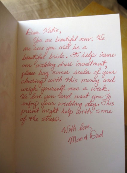 wedding thank you note to parents