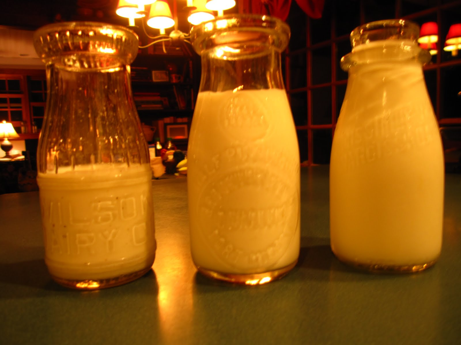 frog hollow farm milk bottles
