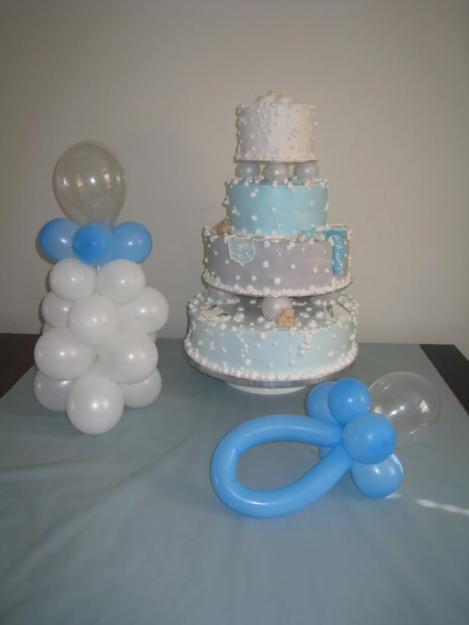 Como hacer figuras con globos para baby shower - Imagui