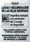 EL PRINCIPIO DEL CONFLICTO...Tapas Diario Clarín del año 1982.