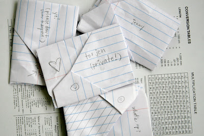 Hey Jen Renee Folded Notes Love Notes Junior High Style