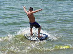 learning to skim board
