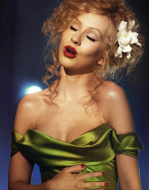 Who makes the Red dress Christina aguilera wears in Burlesque movie?