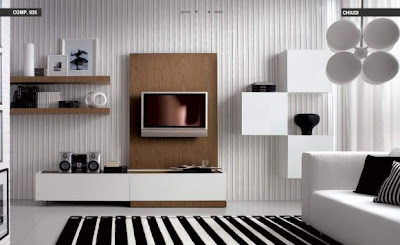 Black-White-Living room