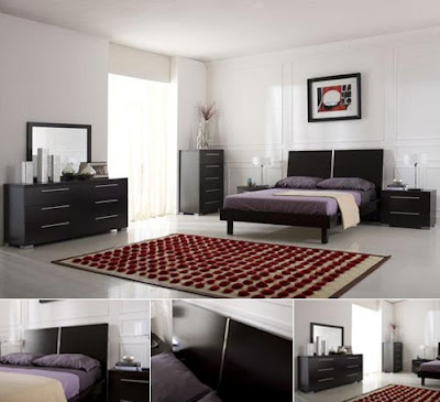 Bedrooms Sets on Modern European Platform Bedroom Set