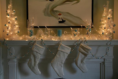 Christmas Mantel Lights Decorations
