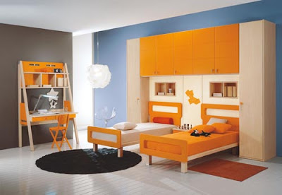 Orange Kids Bedroom Design