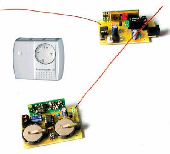 un thermostat contr lant distance par radio une chaudi re ou un climatiseur schema. Black Bedroom Furniture Sets. Home Design Ideas