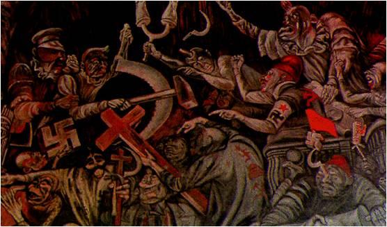 Diplomado tics for El hombre de fuego mural de jose clemente orozco