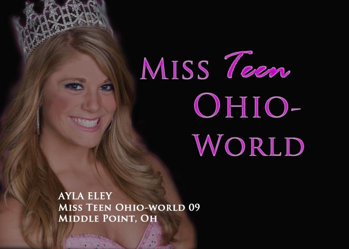 Ayla Eley -Miss Teen Ohio-World 2009