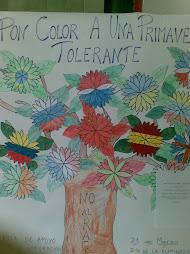 """Precioso mural Pon color a una primavera tolerante""."