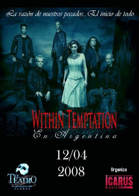 Within Temptation en Argentina el 12/04/2008 !!