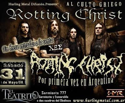 Rotting Christ por primera vez en Argentina el 31/05/2008
