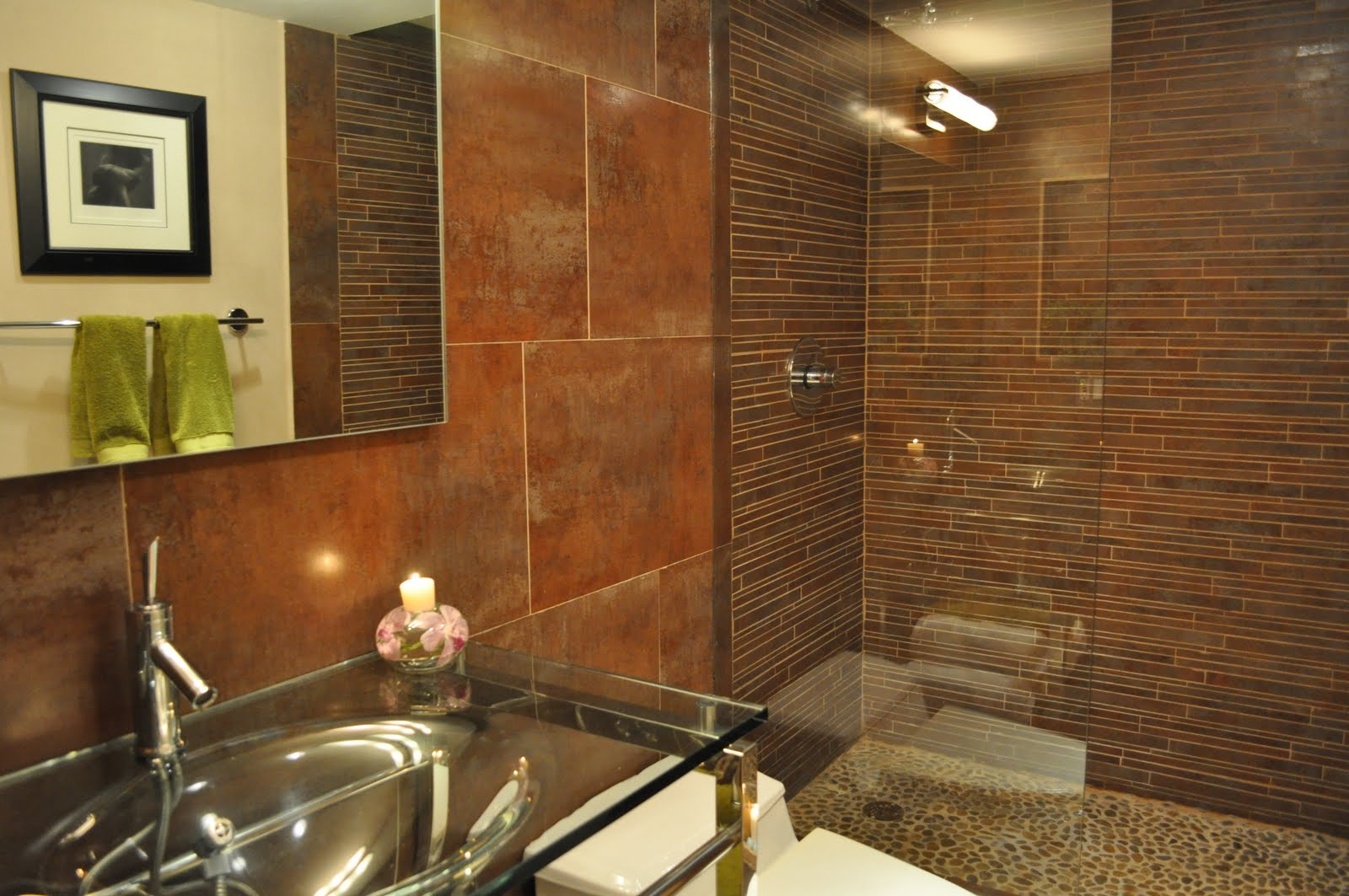 Small Bamboo Bathroom Tiles Ideas