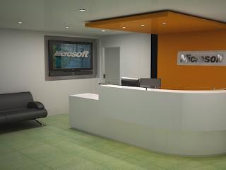 Renders recepcion de oficinas microsoft css venezuela for Oficinas de microsoft