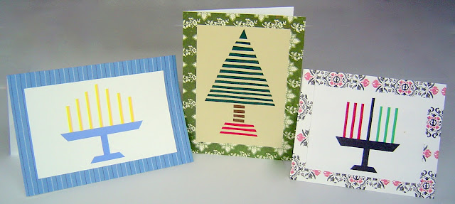 making card: diy simple homemade holiday cards (christmas, hanukkah & kwanzza)