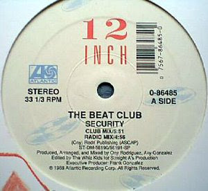 The Beat Club - Security [12'' Vinyl 1988 Atlantic Records]