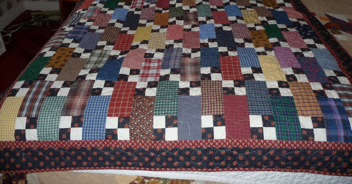 Quilt Patterns From Men S Shirts : scapquilt lover: mens shirts quilt