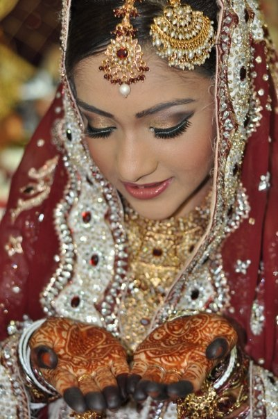 This dark maroon color is most favored by Indian brides