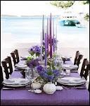 mesa em lilás,azul everde.