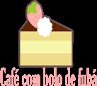 Café com bolo de fubá