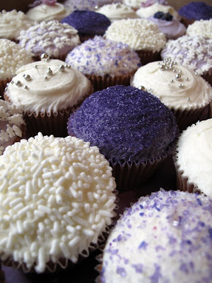 purple cupcakes we did for Gill 39s wedding I don 39t know about you