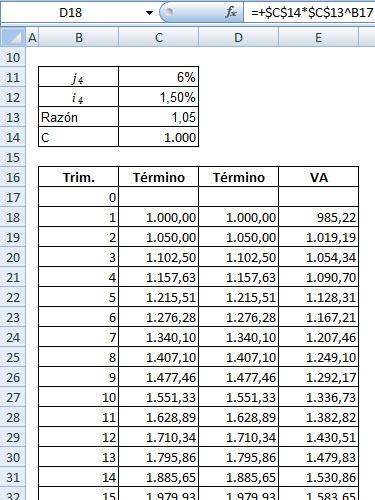 MasterFinanciero.es: VA de una geométrica