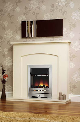 Blaze Electric Fireplace Suite in White from Furniture123