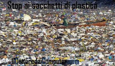 stop ai sacchetti di plastica