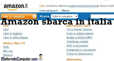 amazon sbarca in italia