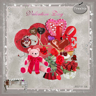 Scrapbook freebie Valentine Day