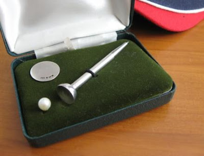 sterling silver golf pencil set