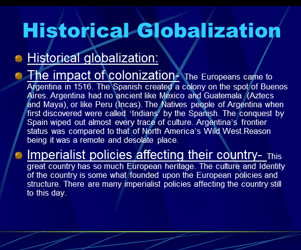 history of globallization Start studying history of globalization learn vocabulary, terms, and more with flashcards, games, and other study tools.