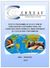 TERCER PROGRAMA DE SELECCIÓN DE EVALUADORES EXTERNOS PARA LAS CARRERAS PROFESIONALES UNIVERSITARIAS
