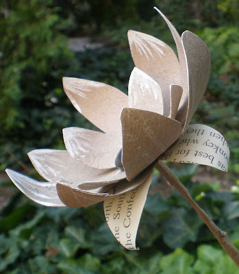 recycling paper: paper towel roll flowerstutorial