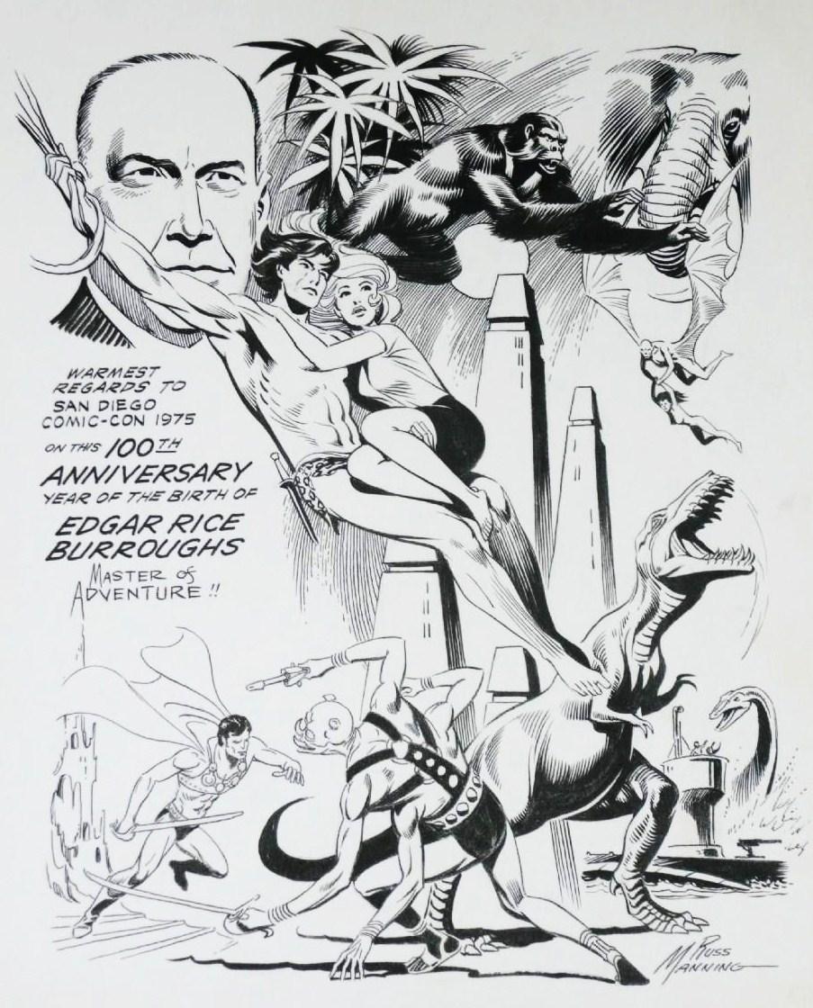 Russ Manning Dave Karlen Original Art Blog Comic Art Legend Russ Manning