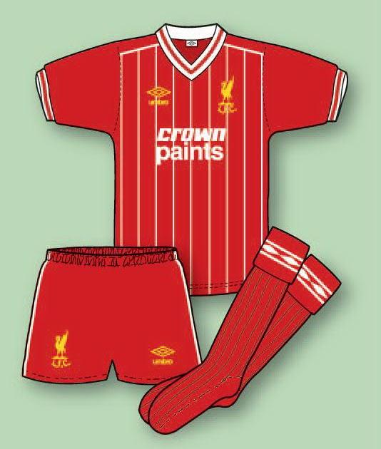 Liverpool Kit History 14: LIVERPOOL FOOTBALL SHIRT HISTORY: LIVERPOOL KIT 1982–83 To