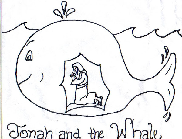 Jonah and the Whale Coloring Pages for Kids
