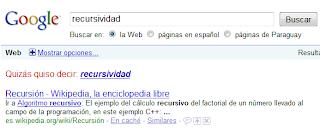 Google nos enseña la recursividad