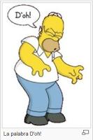 Homero Simpson diciendo la palabra D'oh!