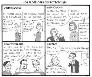 Comic Profesores de Proyecto