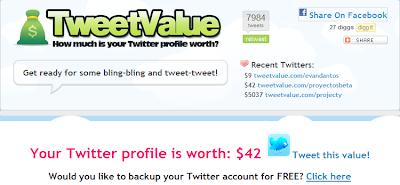 Mi cuenta de Twitter vale