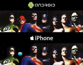 Imagen de la diferencia entre el iPhone y Android