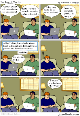 Imagen de un cómic en las redes sociales